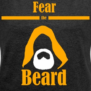 Fear the beard wars star jedi yedi bart kapuze - Frauen T-Shirt mit gerollten Ärmeln