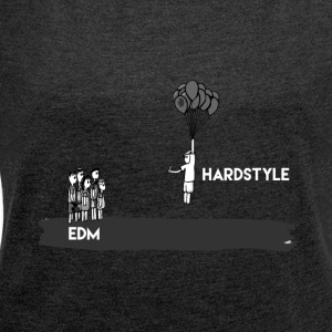 Hardstyle T-Shirt & Hoody - Women's T-shirt with rolled up sleeves