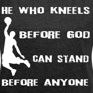 Basketball God - Women's T-shirt with rolled up sleeves
