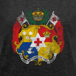 Tonga Coat of Arms Tonga Symbol - Women's T-shirt with rolled up sleeves