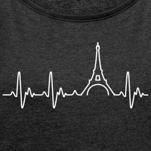 Heart of Paris - T-shirt med upprullade ärmar dam
