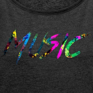rainbow Music - Women's T-shirt with rolled up sleeves