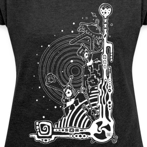 alien planet - Women's T-shirt with rolled up sleeves