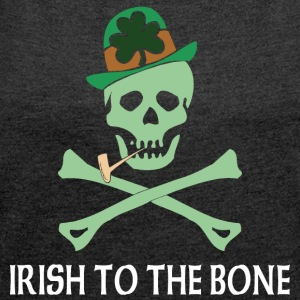 Irish To The Bone - T-shirt med upprullade ärmar dam