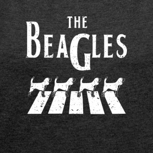 Beagle dogs - Women's T-shirt with rolled up sleeves