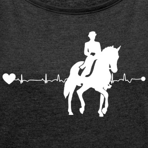 Heartline Dressage - Women's T-shirt with rolled up sleeves