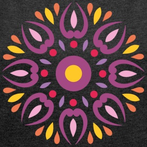 INDIAN DESIGN - Frauen T-Shirt mit gerollten Ärmeln