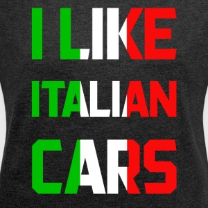 Italy cars - Women's T-shirt with rolled up sleeves