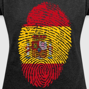 SPAIN / SPAIN FINGERABPRESSION - Women's T-shirt with rolled up sleeves