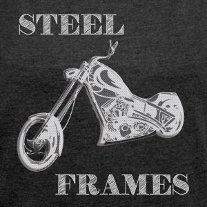 STEEL FRAME - Women's T-shirt with rolled up sleeves