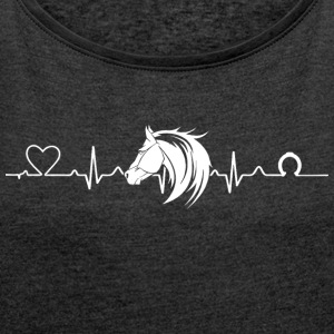 Heartline horse - Women's T-shirt with rolled up sleeves