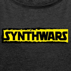Synthwars apparel - Women's T-shirt with rolled up sleeves