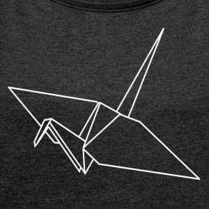 ++ Origami Crane ++ - Women's T-shirt with rolled up sleeves