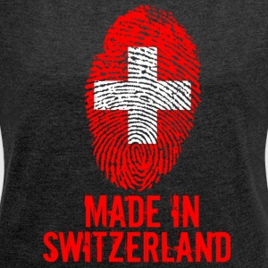 Made in Switzerland / Made in Switzerland Suisses - Women's T-shirt with rolled up sleeves