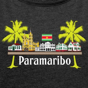 Cabins Paramaribo - Women's T-shirt with rolled up sleeves