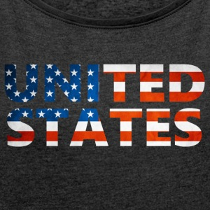 United States 1 (2544) - Women's T-shirt with rolled up sleeves