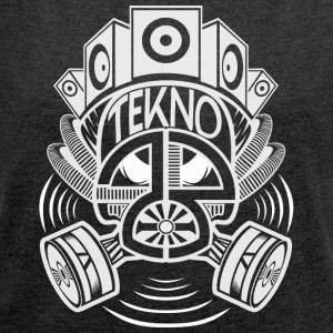 Tekno 23 gas mask - Women's T-shirt with rolled up sleeves