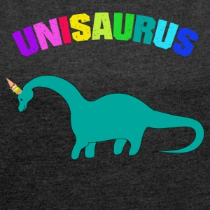 CUTE UNISAURUS ICE CREAM SHIRT - Women's T-shirt with rolled up sleeves