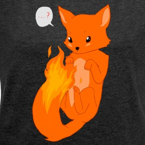 Firefox 02 - Women's T-shirt with rolled up sleeves