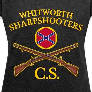 confederate army - Women's T-shirt with rolled up sleeves