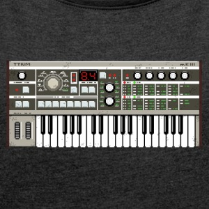 Micro Synthesizer mkIII #TTNM - Women's T-shirt with rolled up sleeves