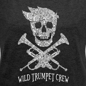 Wild Trumpet BL Crew - Women's T-shirt with rolled up sleeves