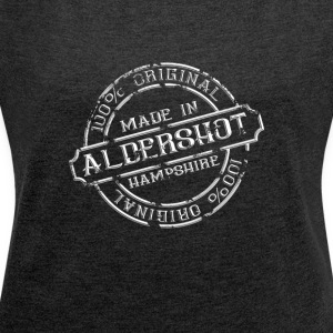 MADE IN ALDERSHOT - Women's T-shirt with rolled up sleeves