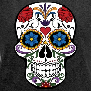 Calavera - Women's T-shirt with rolled up sleeves