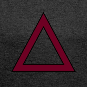 TRIANGLE SWAG - Women's T-shirt with rolled up sleeves