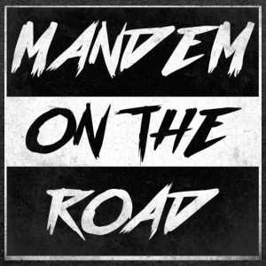 mandem_on_the_road0000 - Women's T-shirt with rolled up sleeves