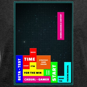 tetris - Women's T-shirt with rolled up sleeves