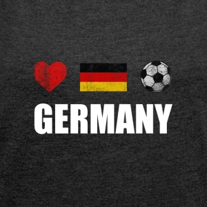 Germany Football German Soccer T-shirt - T-shirt med upprullade ärmar dam