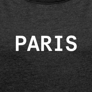 Paris White - Women's T-shirt with rolled up sleeves