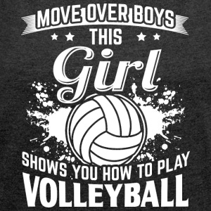 Volleyball MOVEOVER - Women's T-shirt with rolled up sleeves