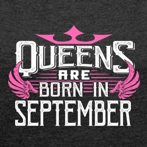 Queens of September - Women's T-shirt with rolled up sleeves