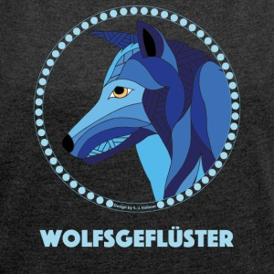 Wolfsgefluester - Women's T-shirt with rolled up sleeves
