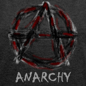 Anarchy - Women's T-shirt with rolled up sleeves
