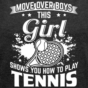 tennis MOVE OVER drenge - Dame T-shirt med rulleærmer