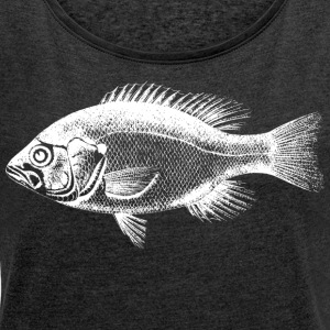 freshwater perch - Women's T-shirt with rolled up sleeves