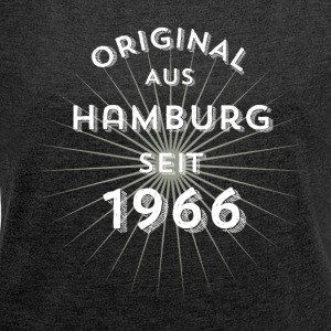 Original from Hamburg since 1966 - Women's T-shirt with rolled up sleeves