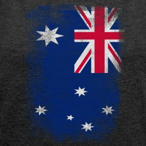 Australia Flag Proud Australian Vintage Distressed - Women's T-shirt with rolled up sleeves