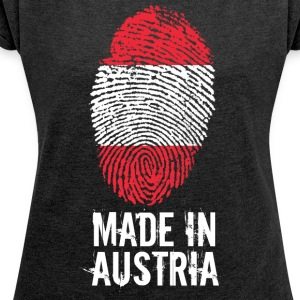 Made In Austria / Austria - Women's T-shirt with rolled up sleeves