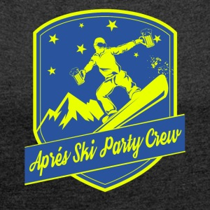 Apps Ski Party Crew - T-shirt med upprullade ärmar dam