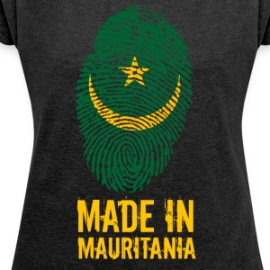Made In Mauretanien / Mauretanien / موريتانيا - T-shirt med upprullade ärmar dam