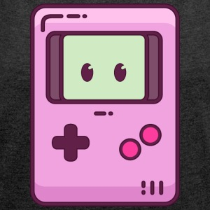 Pinkie Gamegirl - Women's T-shirt with rolled up sleeves