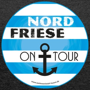 Nordfriese on tour - Frauen T-Shirt mit gerollten Ärmeln