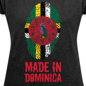 Made In Dominica Caribbean - T-skjorte med rulleermer for kvinner