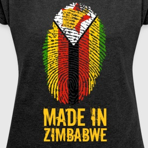 Made In Zimbabwe / Simbabwe / Great Zimbabwe - Frauen T-Shirt mit gerollten Ärmeln