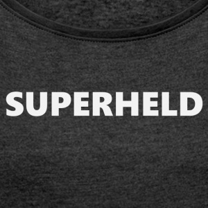 Superhero V1bkDE - Women's T-shirt with rolled up sleeves