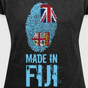 Made In Fiji / Fiji / Viti / Matanitu ko Viti - Women's T-shirt with rolled up sleeves